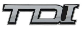 Znak TDI Chrom samolepiaci 3D